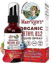 USDA Organic Vitamin B12 (Methyl) Liquid Spray by MaryRuth's   Nerve Function, Energy Boost   Sugar Free, Non-GMO, Vegan, ...