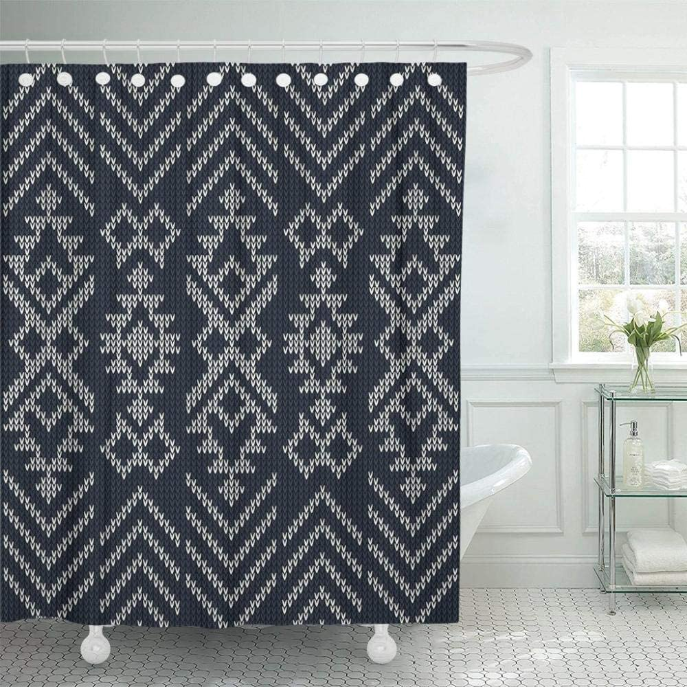 Pattern Abstract Tribal Geometry Knit Ranking TOP13 Curtain Popular shop is the lowest price challenge Sweater Bathroom P