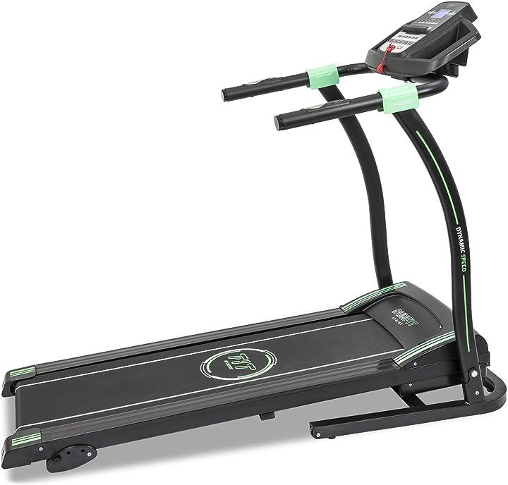Tapis roulant fitness professionale con cardiofrequenzimetro e schermo led. 12 programmi. fino a 14 km/h B01FUZ3R7M