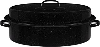 Bovado USA Oval Turkey Roaster Pan with Lid - Thanksgiving Gift, Covered, Non-sticky, Free of Chemicals, Dishwasher Safe -...