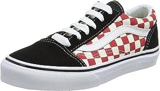 Vans Kids Old Skool (Checkerboard) Black/Red Skate Shoe 11 Kids US