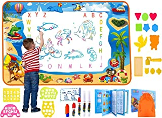 Water Magic Doodle Mat Full Upgrade Set With Extra Large Drawing Area Water Writing Painting Coloring Mat birthday gift Ed...