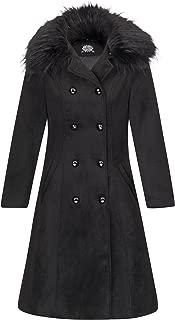 Glam and Gloria 女士黑色复古外观冬季外套外套带人造毛领 黑色 US 8
