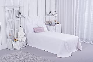 Clara Vidal - Colcha de piqué Anadin disponible en azul, rosa y gris, para cama de 90 cm y 105 cm. OFERTA colcha infantil bebé,niños y niñas. (200 x 265 cm, rosa)