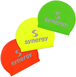 Synergy Latex Swim Caps Combo Pack