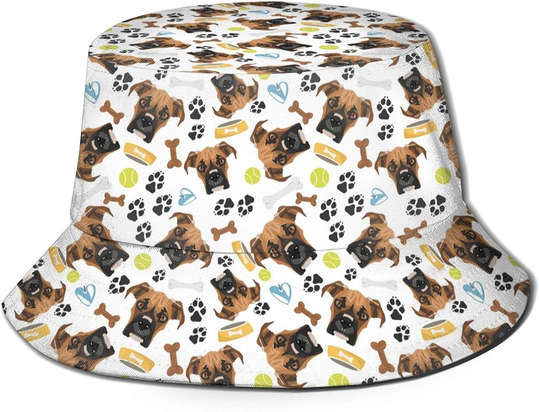Smiling Dog French Bulldog Bucket Hat Unisex Packable Reversible Fisherman Sun Hat