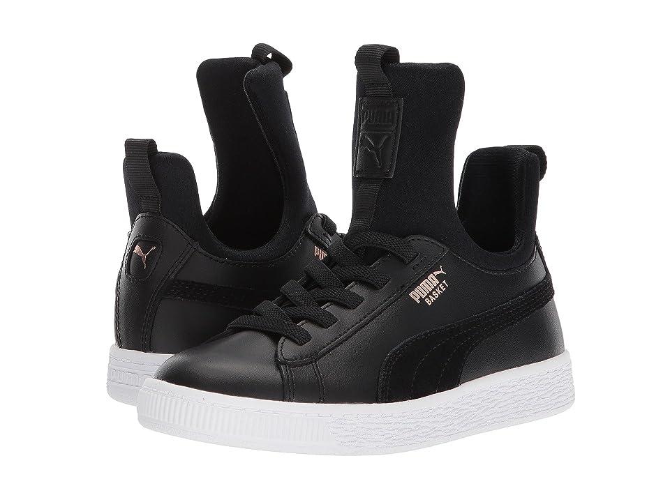 Puma Kids Basket Fierce AC (Little Kid) (Puma Black/Rose Gold/Puma White) Kids Shoes