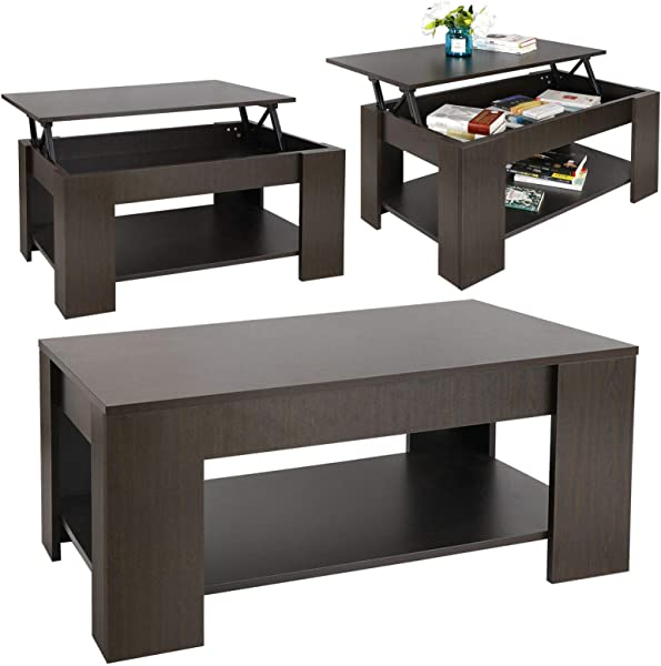 SD Life Premium Quality Coffee Table Lift Top With Hidden Compartment Storage Shelf Modern Home Furniture