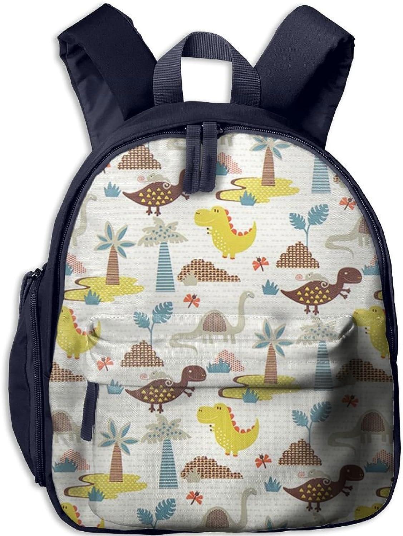 Pinta Beach Dinosaurs Cub Cool School Book Bag Backpacks for Girl's Boy's