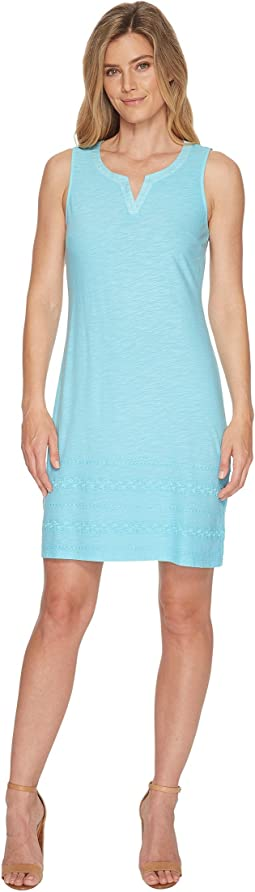 Tommy Bahama Arden Embroidered Sleeveless Short Dress