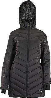 Spyder Women's Boudless Long Puffer Jacket, Black X-Large