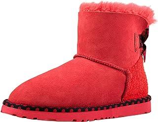 Shenduo Scarpe Donna Invernali - Stivali da Neve Classico a Gamba Corta Caldo DA5854