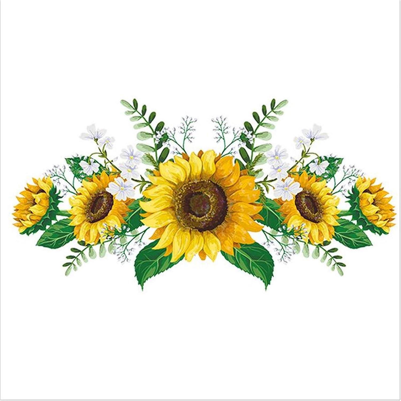 shanxihuangfu Under blast sales Wall Hanging Removable Kitc 2021 model Sunflower Sticker