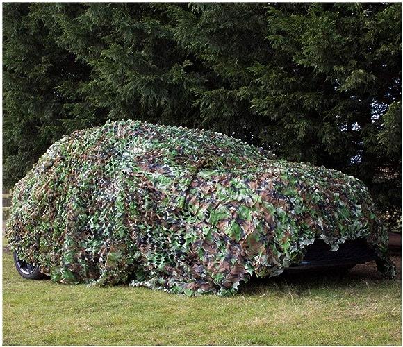 Filet de camouflage armée, Filet de camouflage de 5mx3m N Filet de camouflage dans la jungle , Ajoutez un filet de renforcement Convient pour la chasse militaire à l'ombre de l'armée Gamme de tir en p