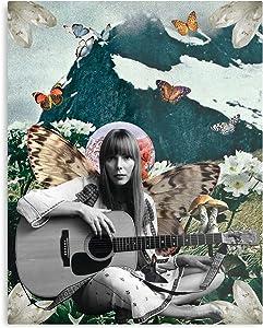 Americana 1970S Folk Joni 1960S Hippie Bohemian Mitchell The Best and Style Home Decor Wall Art Print Poster Customize