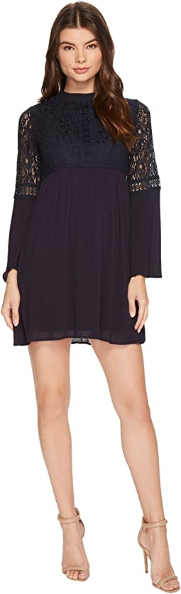 Brigitte Bailey - Janiyah Bell Sleeve Dress with Lace Detail