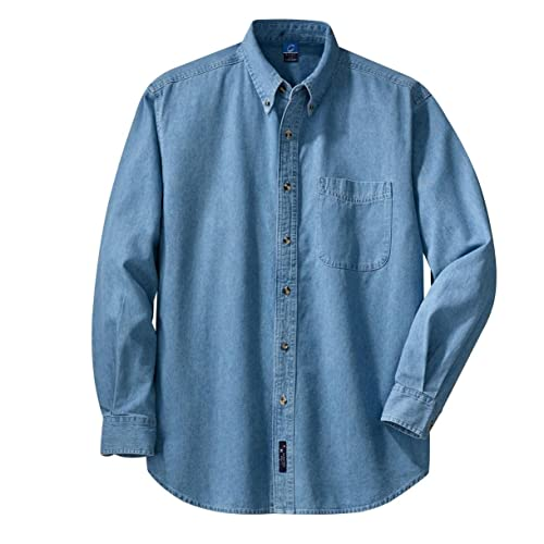 5fc8ddfebd Port   Company Men s Long Sleeve Value Denim Shirt