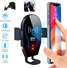 DM Car Phone Mount Air Vent Automatic Clamping Cell Phone Holder for Car Wireless Charger Compatible with iPhone Xs Max/XR/XS/X/8 Plus,Samsung Galaxy S10/S10 Plus/S9/S8/S7/S6/Note5 & Other Smartphone