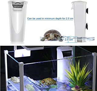 JackSuper Aquarium Waterfall Reptiles Turtle Internal Filter Low Level Water Clean Pump Filtration for Small Fish Tank 1 to 12 Gallon Amphibian Cichlids Frog Crab Up to 12 Galloon