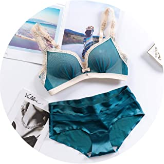 645c08661c24 Bra Set Wire Free Net Yarn Sexy Lingerie Suit Push Up Bra Panties Set Women  Underwear