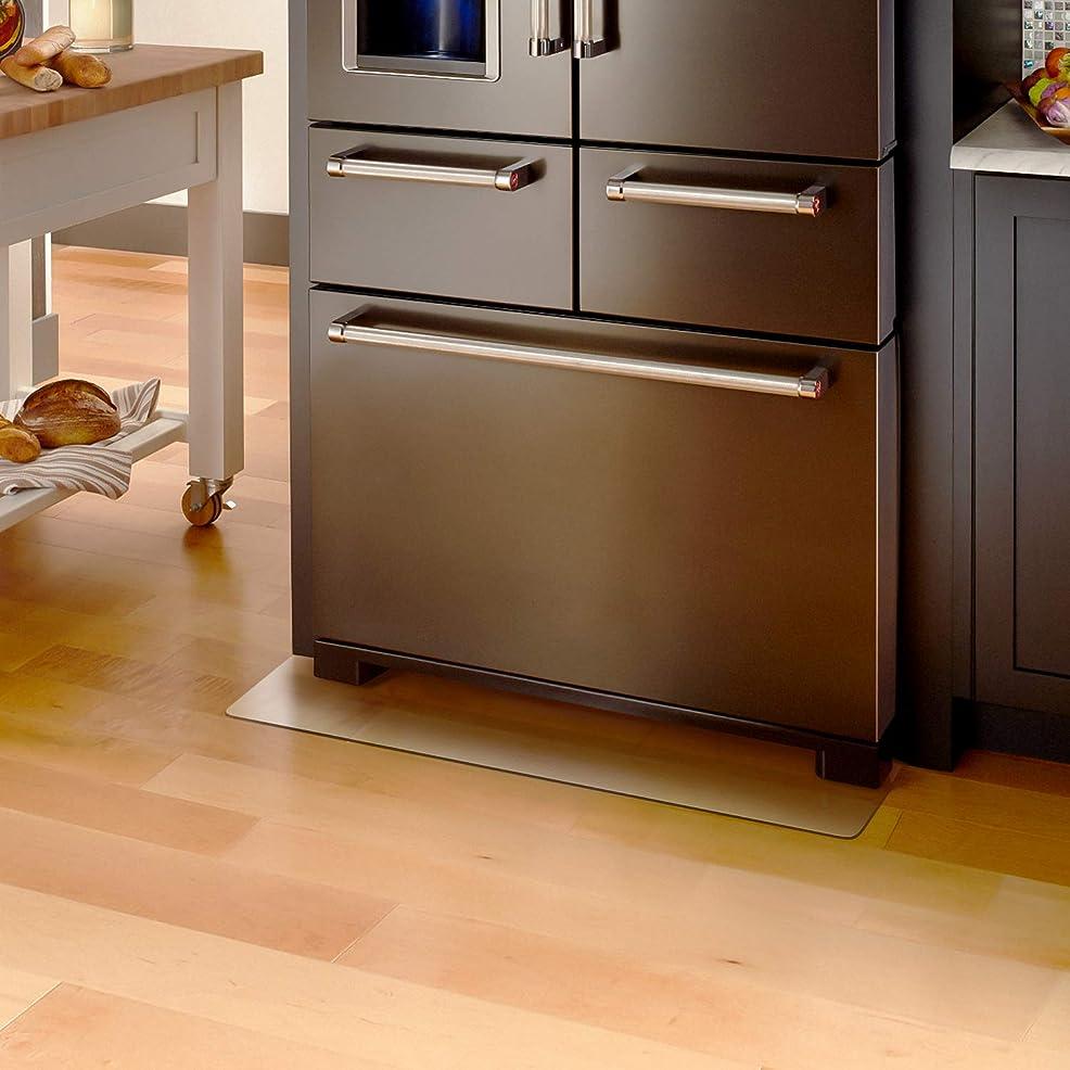 スカープ楽観緩むKitdine 冷蔵庫 マット キズ防止 凹み防止 床保護シートMサイズ 70×75cm ?600Lクラス 無色 透明 国内正規一年保証 (Lサイズ)