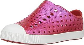 native Kids' Jefferson Iridescent Child Shoe, Torch Red/Shell White/Galaxy Iridescent,  9 Medium US Toddler
