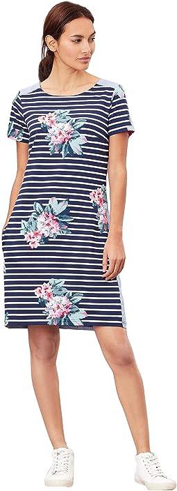 Floral Navy Stripe