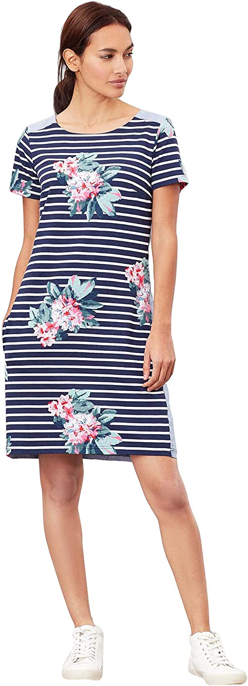 Floral Navy Stripe