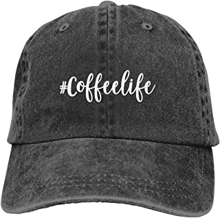 CoffeeLife Hat Men Printed Vintage Baseball Cap Distress Cotton Vintage Natural Life Style Adjustable Unisex Dad Hat