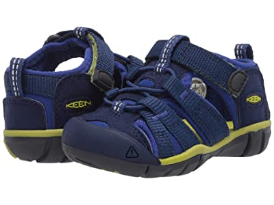 Keen Kids Seacamp II CNX (Toddler) (Blue Depths/Chartreuse) Boys Shoes