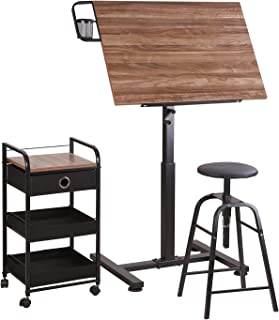 Sit Stand Draft Table Set by Artist's Loft