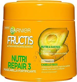 Garnier Fructis Nutri Repair 3 Mascarilla Fortificante que Nutre y Suaviza con 3-Glyceride y Aceites de Oliva Aguacate y...