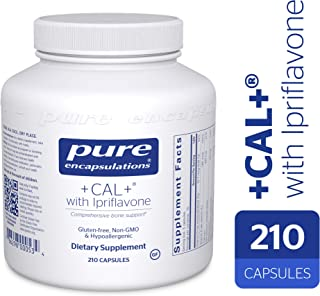 Pure Encapsulations - +Cal+ with Ipriflavon - Mineral, Vitamin, and Herbal Supplement to Promote Skeletal Strength* - 210 Capsules