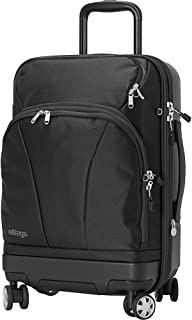eBags TLS Hybrid (Hardside/Softside) Spinner Expandable Luggage - 22-inch - Carry-On - (Black)