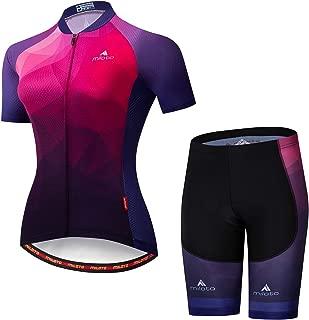 MILOTO Women's Cycling Jersey Reflective Shirt Padded Shorts Set