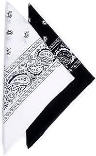 2 Color Pack Bandanas for Men & Women - Cotton Bandana + Soft & Durable Bandana