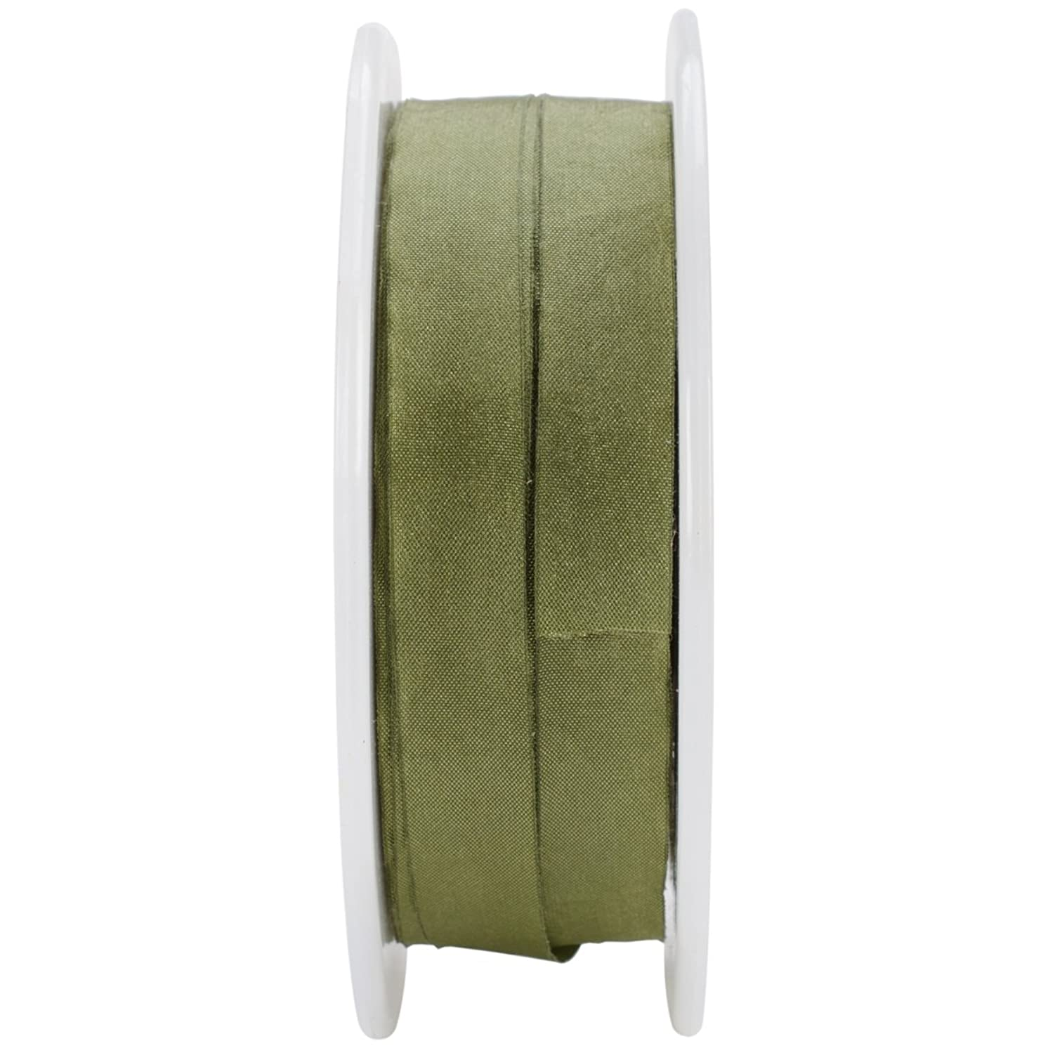 May Arts 1/2-Inch Wide Ribbon, Olive Solid