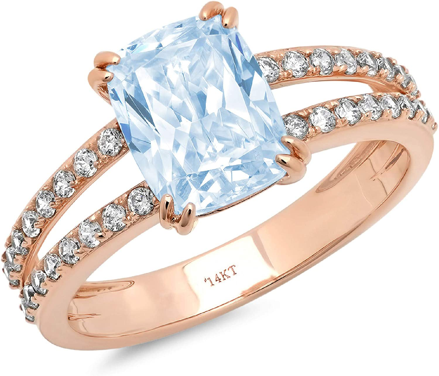 Clara Pucci 3.6 ct Cushion Accent Cut Genuine Stunning Limited price Sacramento Mall Solitaire