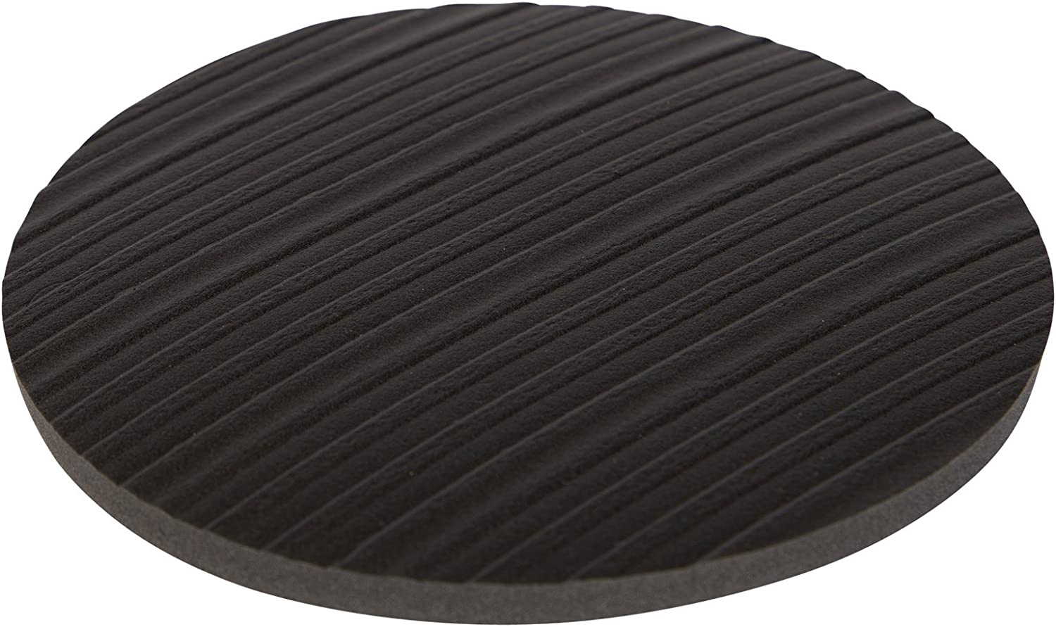 Stay! Furniture Pads, Round Furniture Grippers, Gripper Pads, Protect Your Floor   Works on Hardwood Floors and Carpet, Anti-Slip   Round Black, Set of 4 (6 inch)