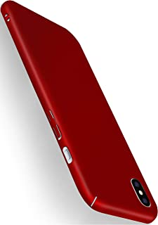 MoEx® Funda Trasera [Ultrafina] Compatible con iPhone X/iPhone XS | Metálico Mate Rouge