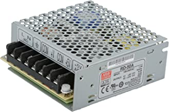 Mean Well RD-50A-VP Enclosed Switching AC-to-DC Power Supply, Dual Output, 5V-12V, 54W, 1.4