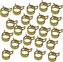Wingsmoto Fuel Line Hose Tubing Spring Clips Clamps 10mm Steel Band Motorcycle Scooter ATV Pack of 50