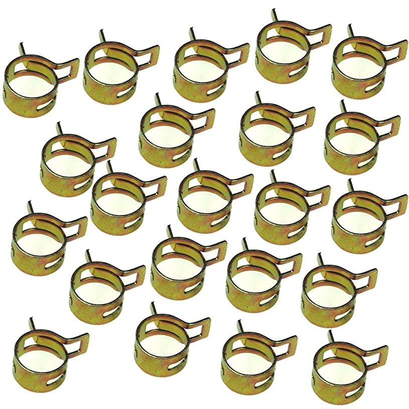 Wingsmoto Fuel Clips Line Hose Tubing Spring Clamps 8.5mm Steel Band Motorcycle Scooter ATV Pack of 50