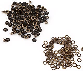 Ojetes Metálicos Ojetes Retros 100pcs Ojetes con Arandelas para Artesanía de Cuero DIY Costura(4mm)