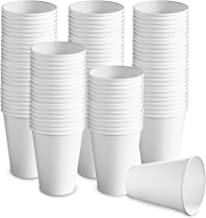 150 count 12 oz White Paper Hot Cups/Disposable Coffee Cups, Party Cups for Hot and Cold Drinks