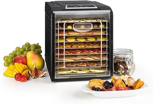 Klarstein Fruit Jerky 9 DryPower - Déshydrateur, 9 niveaux, Le goût reste intact, Réglage de la température, Minuteur...