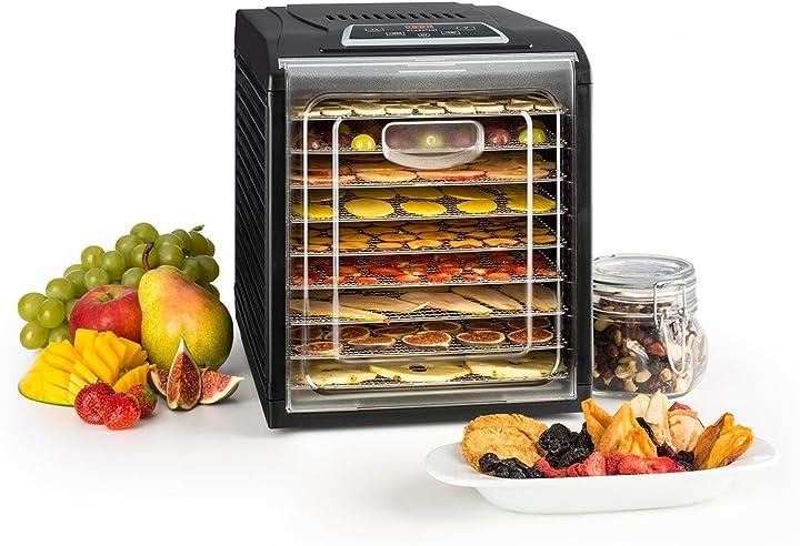 Essiccatore di frutta, carne ed agrumi, 460-700 watt, 9 mensole klarstein frutta jerky 9 B075WS4C9T