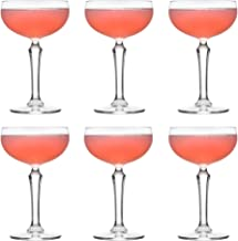 Libbey Cocktailglas SPKSY Coupe - 245 ml / 24,5 cl - Set med 6 stk. - Champagneglas - Diskmaskinssäker - Perfekt för en co...