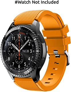 Hamee Gear S3 Frontier/Classic Watch Band, Soft Silicone Sport Strap for Samsung Gear S3 Frontier / S3 Classic/ 46mm Smart Watch - Orange