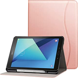 Ztotop Premium Leather Case for Samsung Galaxy Tab S3 9.7-Inch 2017 (SM-T820/T825), Leather Folio Stand Protective Case Smart Cover for Galaxy Tab S3 with Auto Sleep/Wake, S-Pen Holder, Rose Gold